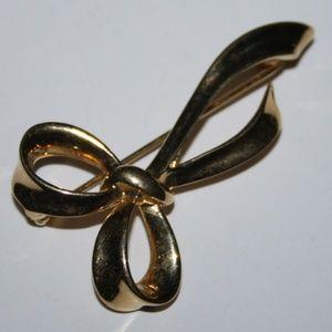 PEP Ribbon Brooch Vintage gold